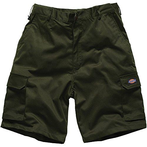 Dickies - Pantaloni corti, verde oliva, taglia 36
