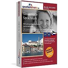Slowenisch-Basiskurs mit Langzeitgedächtnis-Lernmethode von Sprachenlernen24: Lernstufen A1 + A2. Slowenisch lernen für Anfänger. Sprachkurs PC CD-ROM für Windows 10,8,7,Vista,XP / Linux / Mac OS X
