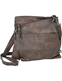 TOM TAILOR Rina Crossover Bag Tasche Umhängetasche Trendtasche Damen Braun Neu