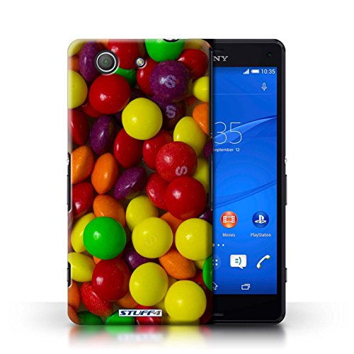 Kobalt® Imprimé Etui / Coque pour Sony Xperia Z3 Compact / Roses conception / Série Bonbons Skittles