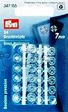 Prym 347155Botones presión plástico Transparente 7mm, 24 Unidades, plástico Blanco 2X 1X...