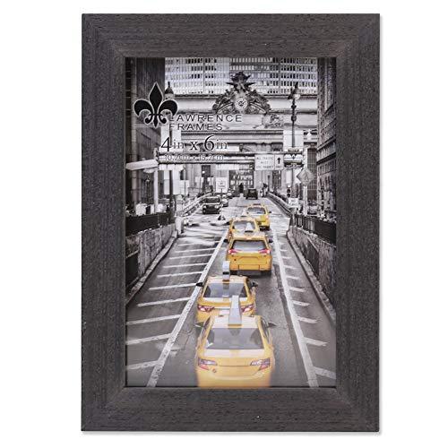 Lawrence Frames Soho Bilderrahmen, Holzmaserung, 10 x 15 cm, Schwarz