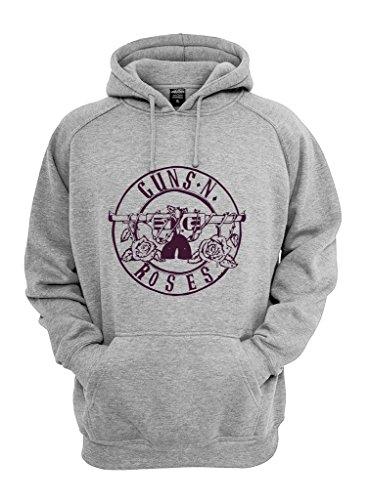 Felpa Shirt con cappuccio Guns 'n Roses Logo grigio XXXL