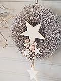 Türkranz Weihnachten Weihnachtskranz weißer Weihnachtskranz Türdeko