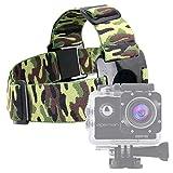 DURAGADGET Fascia Testa Elastica Camouflage per Action Camera Monster Cam   FUDISI Tech   IXROAD   F68   Apeman A65