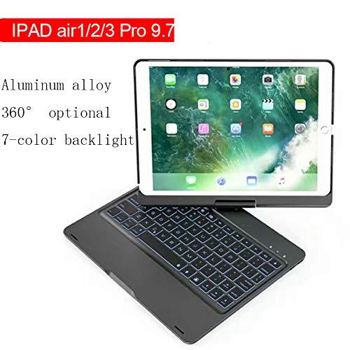 LMYG Ipad Pro9.7 Zoll Aluminiumlegierung Bluetooth Tastatur Air / Air2 Rotierende Drahtlose Tastatur Bunte Hintergrundbeleuchtung Tastatur - Aluminium-serie Laptop
