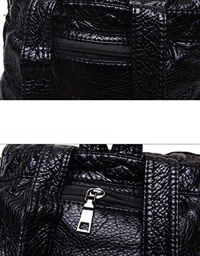 Coreano Moda Donna Borsa Zaino Zainetto Black