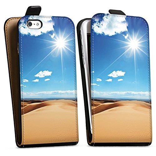 Apple iPhone X Silikon Hülle Case Schutzhülle Wüste Sand Sonne Downflip Tasche schwarz