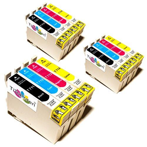 12x Epson Stylus Office BX300F Kompatible Druckerpatronen - Cyan / Magenta /...