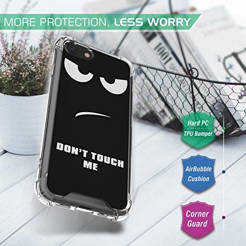 MoKo Hülle für iPhone 8 / 7 - [Kristall Durchsichtig Serie] Ultra Slim TPU Silikon Handyhülle Crystal Clear Phone Bumper Case Schutzhülle Schale für Apple iPhone 8 / 7 4.7 Zoll, Helle Rosa Don't Touch Me