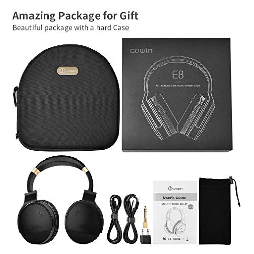 cowin E8 Bluetooth inalámbrico con micrófono y Auriculares con cancelación de Ruido (Dorado)