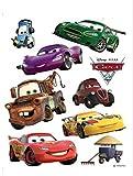 1art1 75274 Cars - 2, Lightning McQueen, Holly Shiftwell, Hook Und Ihre Freunde Wand-Tattoo Aufkleber Poster-Sticker 65 x 42 cm