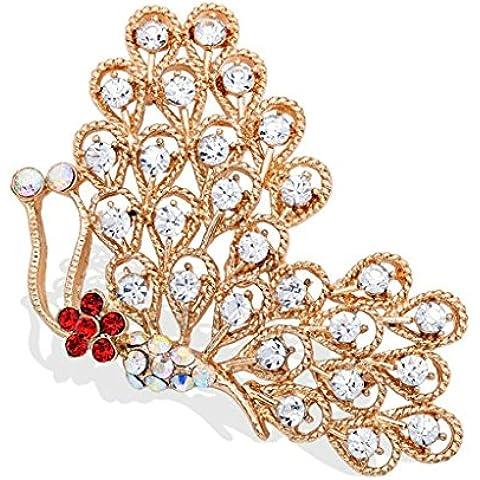 AnaZoz Joyería de Moda Broche de Mujer Acero Inoxidable Broche Mariposa Broches y Pins Para Mujer Broche de Boda