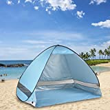 Oversized Pop Up Tenda da spiaggia sole ripari, automatico XXL Famiglia portatile leggero anti UV Cabana (2 – 3 persone), Set Up e piegare in pochi secondi, Blue