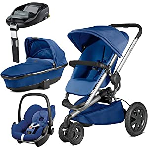 Quinny Buzz Xtra Blue Base with Carrycot and Pebble with Familyfix Base   13