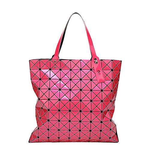 Frauen Variety Falttasche Geometric Umhängetasche RoseRed