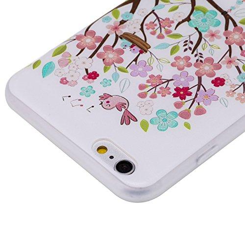 iPhone 6Plus Coque, iPhone 6s Plus Coque, Ultra mince antichoc souple en gel TPU Bumper souple en caoutchouc de silicone de protection Peau avec anti-rayures pour Apple iPhone 6Plus/6s Plus 14cm iP Swing Girl