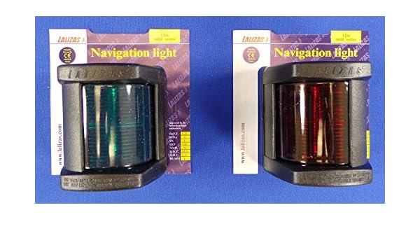 Lalizas Classic N12 Boat Navigation Light 12v Black Light Port /& Starboard