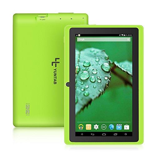 Yuntab Q88H – 7 Zoll Tablet PC,Android 4.4, Quad Core, HD 1024×600, Dual-Kamera, Bluetooth, Wi-Fi, 8GB, 3D Spiel Unterstützte Grün