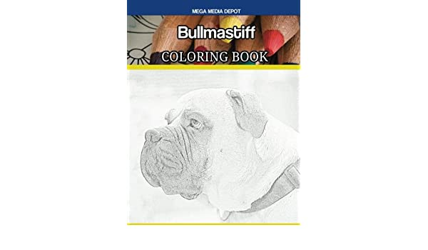 Mastiff dog coloring pages Coloring book page pdf printable ... | 350x600