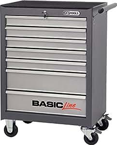 KS Tools Basic Line Chariot avec 7tiroirs, gris/argent, 835.0007