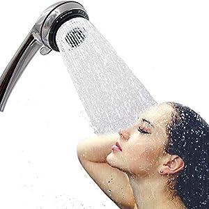 Alcachofa de Ducha Alta Presión Cabezal de Ducha de Agua Ahorro Mango de Ducha ABS 5 Chorros, Cromo