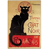 Trademark Fine Art Tournee du Chat Nir by Theophile A Steinlen Canvas Wall Art, 24x32-Inch preiswert