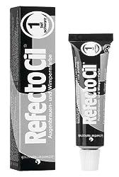 GWCosmetics RefectoCil Augenbrauen und Wimpernfarbe, tiefschwarz, 15 ml