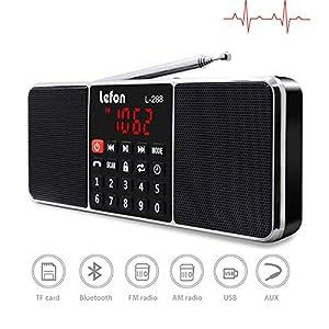 DZSF Radio portátil Digital Am FM Altavoz Estéreo Reproductor de MP3 Tarjeta TF/SD Unidad USB Llamada Manos Libres Pantalla LED