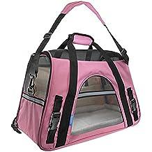 5e9824edd310 Guiran Bolsa De Viaje para Mascotas Bolsa De Transporte Perros Gatos  Transportín Plegable Pink Large