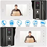 KKmoon Videogegensprechanlage 7 Zoll Video Door Phone Intercome Doorbell Fernbedienung entriegeln nachtsicht regenfest Security CCTV-Kamera Überwachung TP01H-22