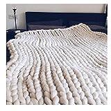RTTRY Sedia Extra Spessa Lana Spessa coltre di Lana Coperta Sofa Cover ha Lavorato a Mano, 1.200 200cm * Varie sedie (Color : 2, Size : 180 * 200cm)