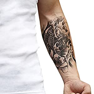 Eleery temporary large tattoo arm body art removable for Fake tattoos amazon
