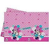 Partido Ênico 1,8 x 1,2 m Amor plástico me Dots Disney Minnie Mantel Ratón