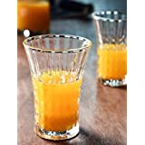JRP Mart's Crystal Cut Tall Bar Glasses For Every Occasion (Set Of 6)