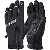 HASAGEI Cycling Gloves Winter Warm Gloves Water Resistant Windproof Touch Screen Gloves for Outdoor Sports Riding Climbing Camping Hiking Gardening Motorcycle Work Men Women
