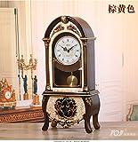 Y-Hui Peening Time-Base Clock Desk Clock Clock Im Wohnzimmer Schlafzimmer alte Pendeluhr Desktop Dekor Schwingen ist 12 Zoll, Gelb (Bericht)