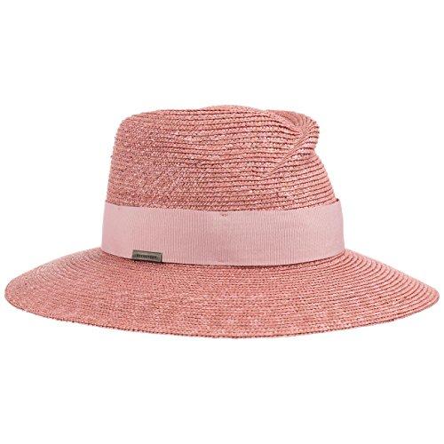 Seeberger Sombrero de Paja Dented Crown by playasombrero sol (talla única - rosado)