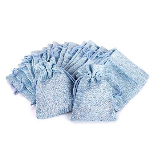 Wolfteeth 20 pz 12 x 9 cm Sacchetti Regalo Caramella portaconfetti Bustine per Battesimo Matrimonio Confetti Gioielli - Blu