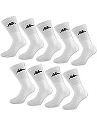 Kappa - Calcetines de tenis, 6, 9 o 12 pares, color blanco y negro