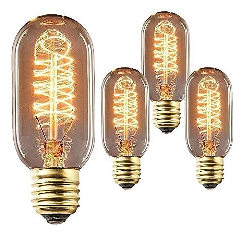 Set von 3T45Vintage Glühbirne RETRO altmodisch Edison Stil E2740W Schraube Glühbirne Einzigartige Design-Tube Eichhörnchen Käfig Tungsten Filament Glas