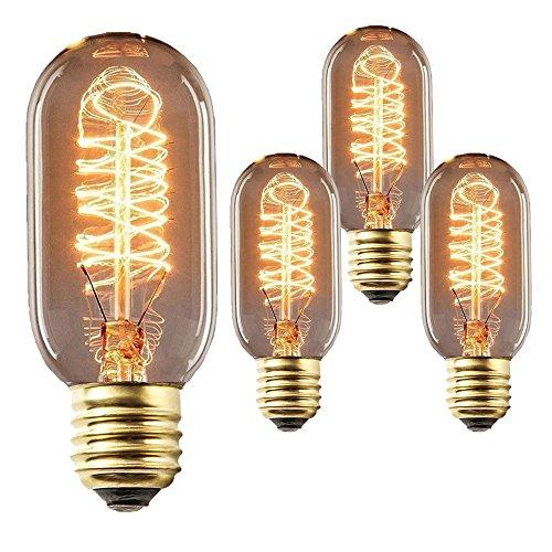 Vintage Edison Glühbirne Glühlampe E27 T45 40W Wolfram Bulb Antik Für Squirrel Cage Retro Nostalgie Industry Style Leuchtmittel Antike Beleuchtung 220V Set von 3 -