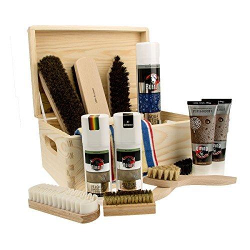 Schuhputzkiste-Bologna-Naturholz-Kiefer-Schuhputz-Kasten-15tlg-gefllt-mit-hochwertiger-Schuhpflege