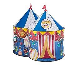 WSGZH Carpa Azul Animal Pequeño Circo Feliz Castillo Cúpula Carpa Puzzle Bola Piscina Juguete Casa Juguete