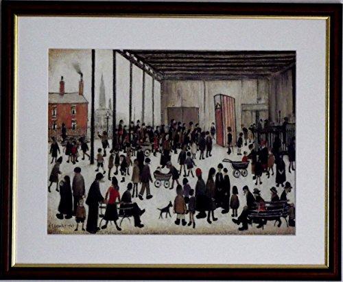 Die Kollektion von L S Lowry Spezialität Prints und Bilder-alle auf einem Leinen Struktur Medium, Walnut Finish Frame With Soft White Mount And Large - Punch And Judy - Image, 20 x 16inch -