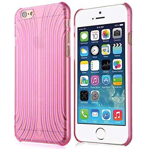 Baseus Premium Transparentes Hard-Shell Case / Ultra-Dünn / Slim / Schutzhülle für Apple iPhone 6 & 6S in Transparent Pink Rosa Premium Hardshell Case