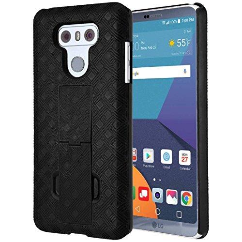 LG G6 Hülle, LG G6 Plus, Rom Tech OEM Schutzhülle Slim Handyhülle mit Kickstand Clip LG G6 - Schwarz -