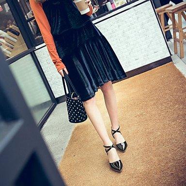 LvYuan Da donna Sandali Finta pelle Primavera Estate Fibbia A stiletto Oro Nero Argento Rosa 10 - 12 cm Silver