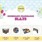 Partycolare Kit Compleanno Blaze per 16 persone - Piatti, Bicchieri, Tovaglioli e Tovaglia