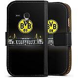 Samsung Galaxy S3 mini Flip Tasche Schutz Hülle Walletcase Bookstyle Borussia Dortmund BVB Stadion